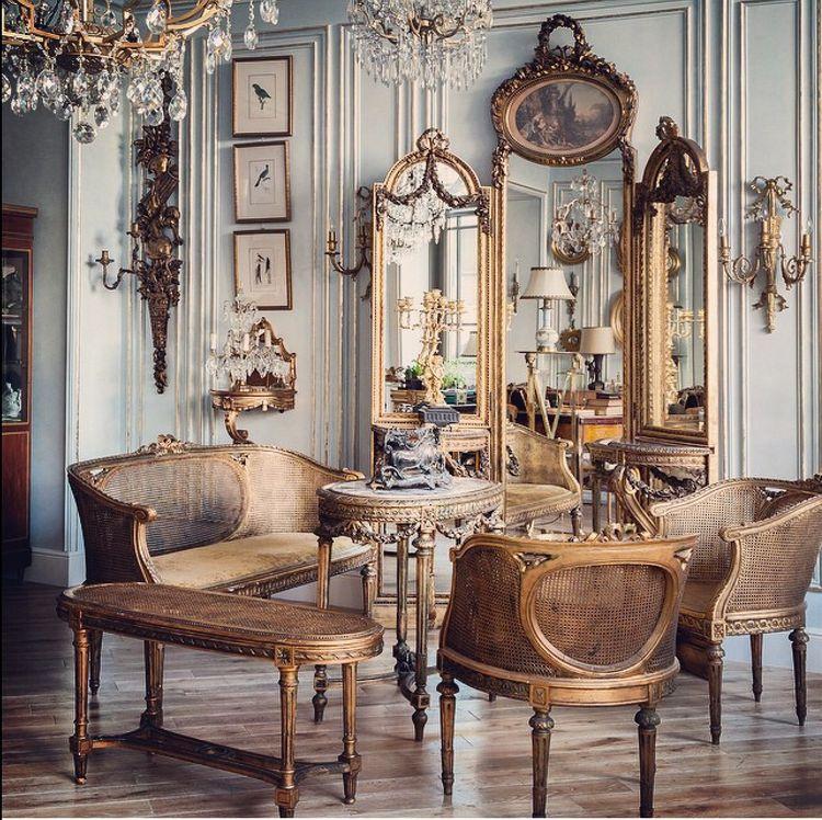 Ludwik xvi francuski styl camelote meble z francji - Classic home interior design photos ...